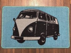 NO SLIP DOORMAT 50X80CM GEL BACKING TOP QUALITY CAMPER DESIGN NEW COLOUR BLUE